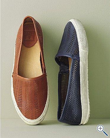 Frye Kira Leather Slip On Sneakers Garnet Hill Slip On Sneakers On Shoes Sneakers