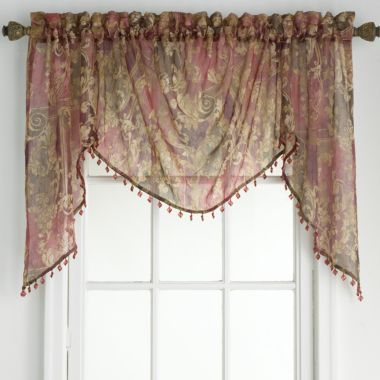 Jcp Home Adornment Rod Pocket Shaped Valance Found At Jcpenney