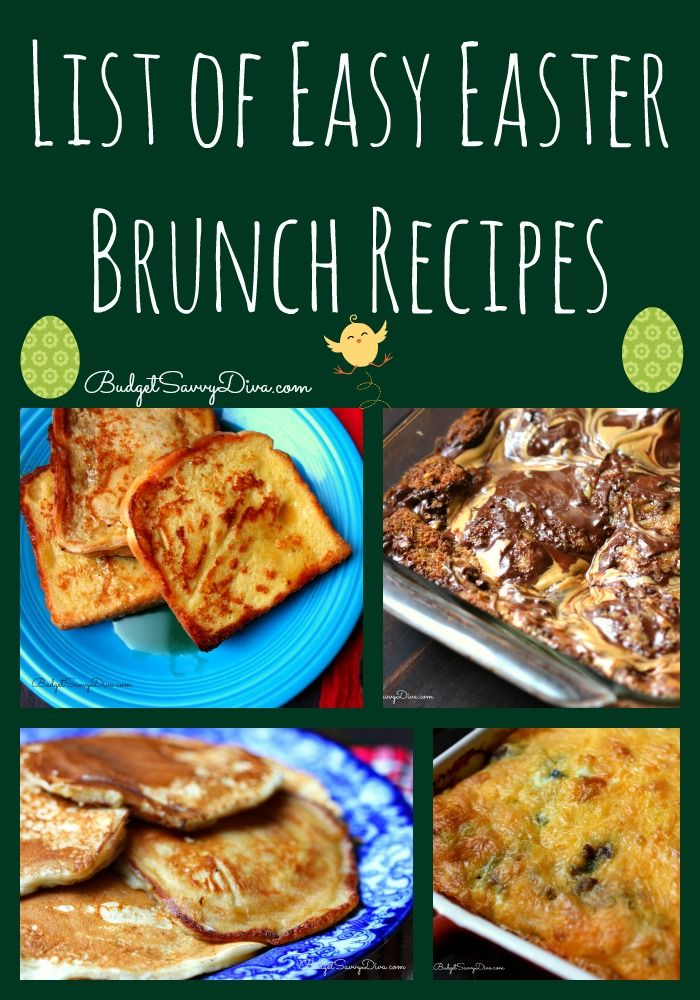 are you ready for easter here is a huge list of easy easter brunch