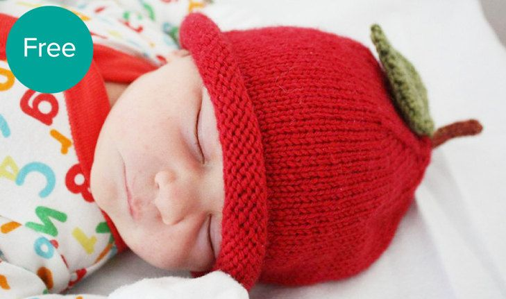 LoveKnitting Knitting Apple Teacher Baby Free Pattern Hat | knit ...