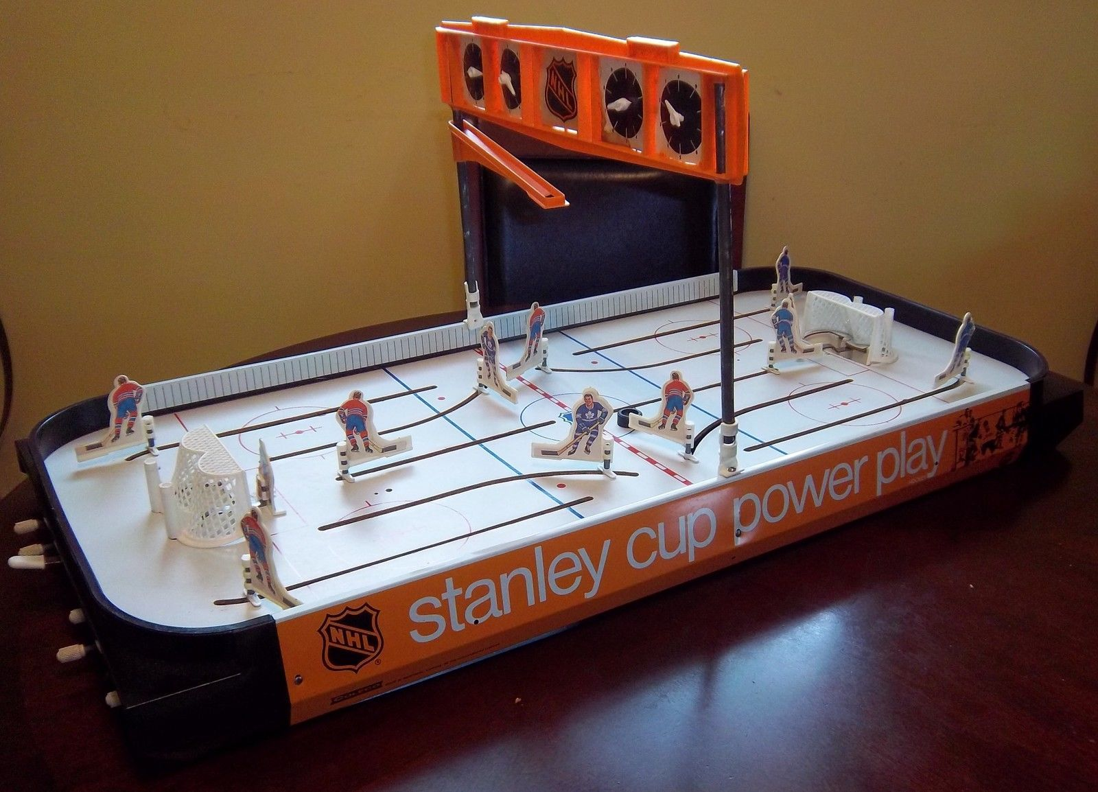 Coleco NHL Power Play Rod Hockey Table Sold on eBay - YouTube