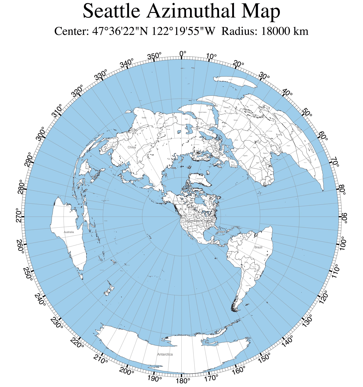 Seattle Centered World Map Maps Pinterest Seattle Map And World