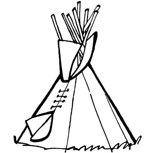 Cowboys & Indianer: Tipi zum Ausmalen | Kiga | Pinterest | Cowboys