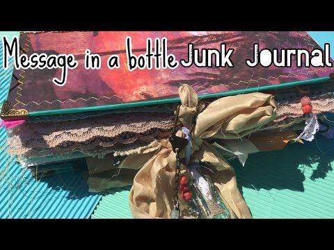 741b20ae4ffa Message in a bottle Junk Journal (sold!)   live flip   tropical beach -  YouTube