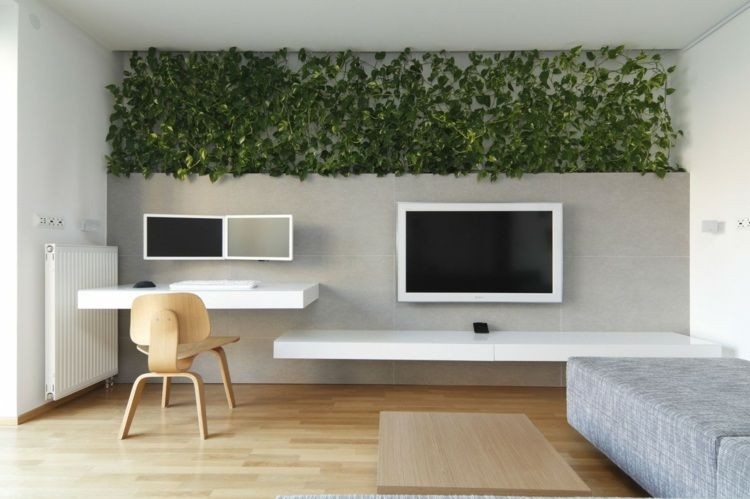 Aménagement de bureau moderne dans un salon design deco