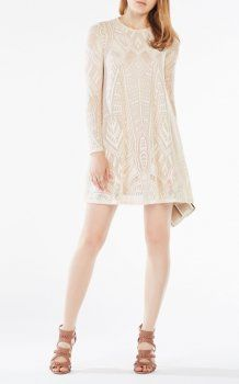 Corozo Long Sleeve Natyly Bcbg Lace Tail Dress Short
