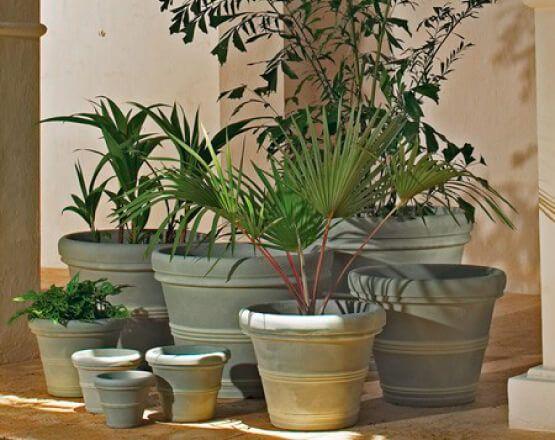 crescent garden planters. Brunello Rolled-Rim Planters | Crescent Garden-Indoor And Outdoor Garden E