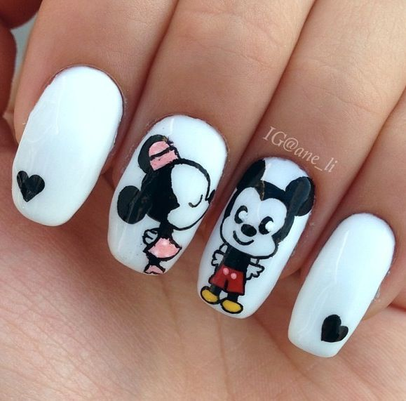 Mickey Mouse Nail Designs images - Mickey Mouse Nail Designs Images Σχέδια νυχιών Pinterest