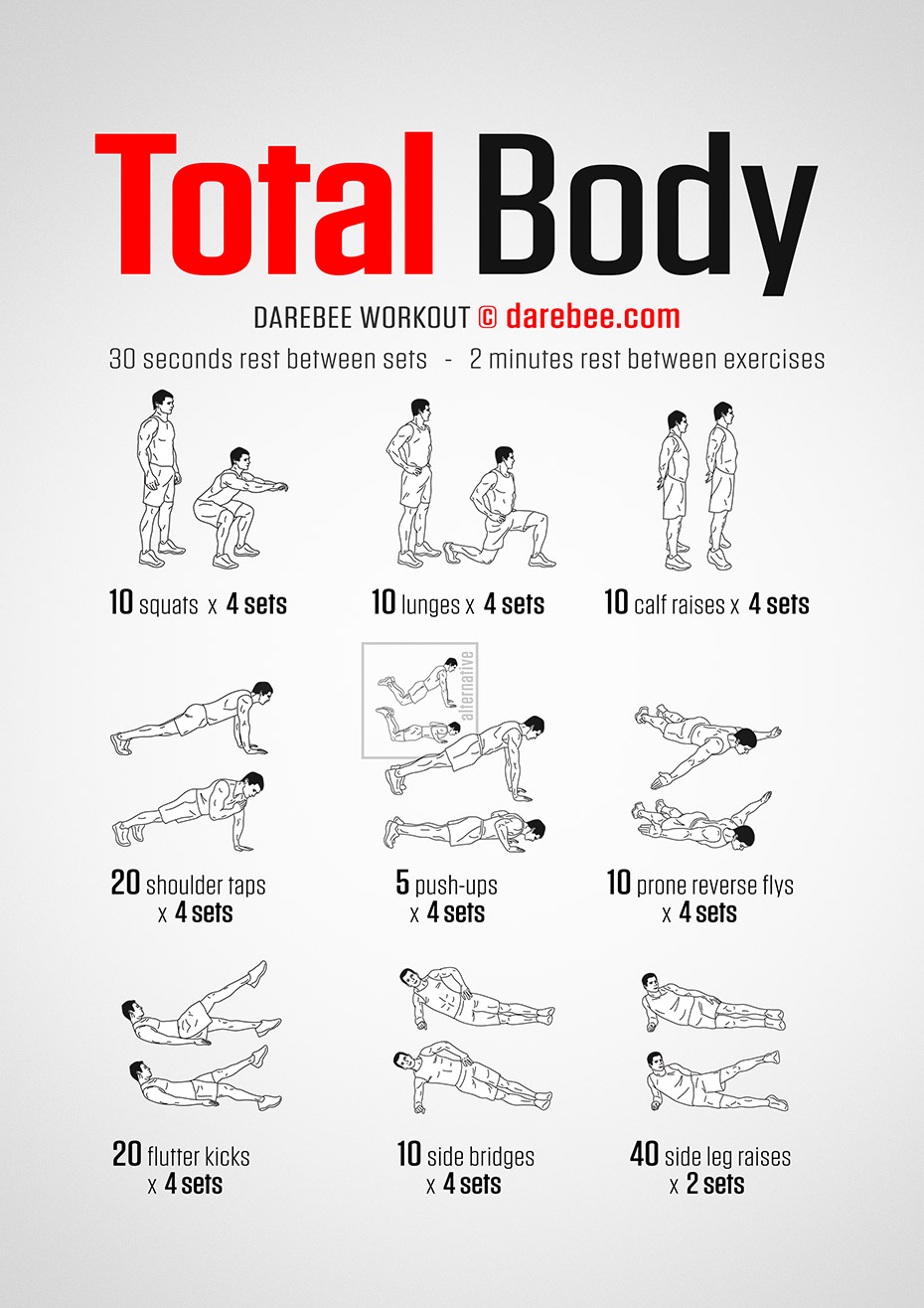 Photo of No-Equipment Total Body Workout by #DAREBEE #darebee #workout #fitness #wod
