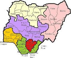 Nigeria Map The six 6 geopolitical zones Try it out