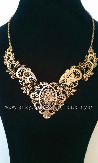 SALE -- statement necklace /bubble statement necklace/pretty/bib necklace/pendant/Beadwork/beautiful   46. $10.99, via Etsy.
