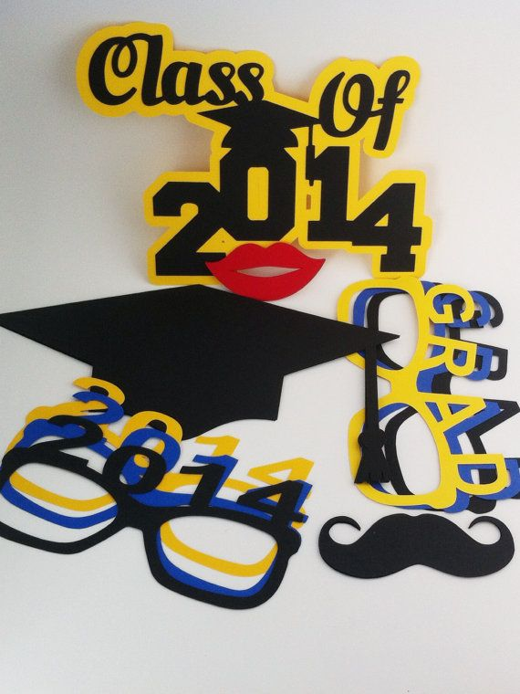 Graduation Photo Props - class of 2014 - party decor - party supplies