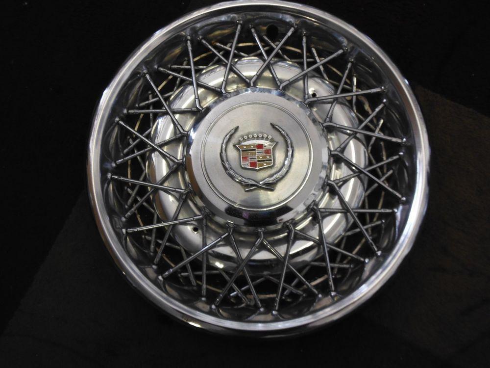 Vintage Cadillac 15 Quot Factory Oem Wire Spoke Hubcap Hub Cap