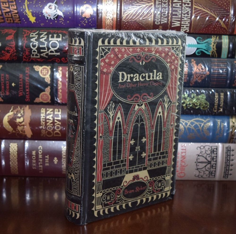 Dracula Other Horror Classics Bram Stocker Sealed Leather Bound Collectible