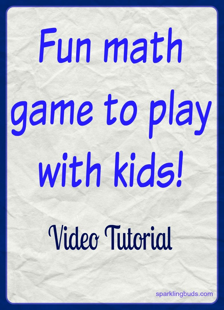 A very simple math game to play with kids! | Montessori-Inspired ...