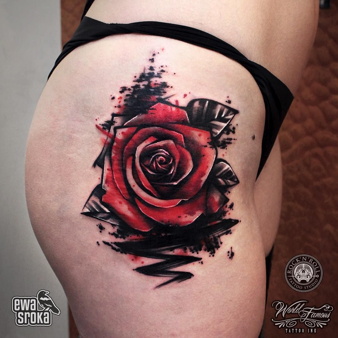 See this instagram photo by ewasrokatattoo 485 likes for Unique rose tattoos