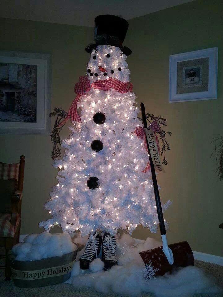 Cute! Didn\u0027t like white Christmas trees, until now! xmas
