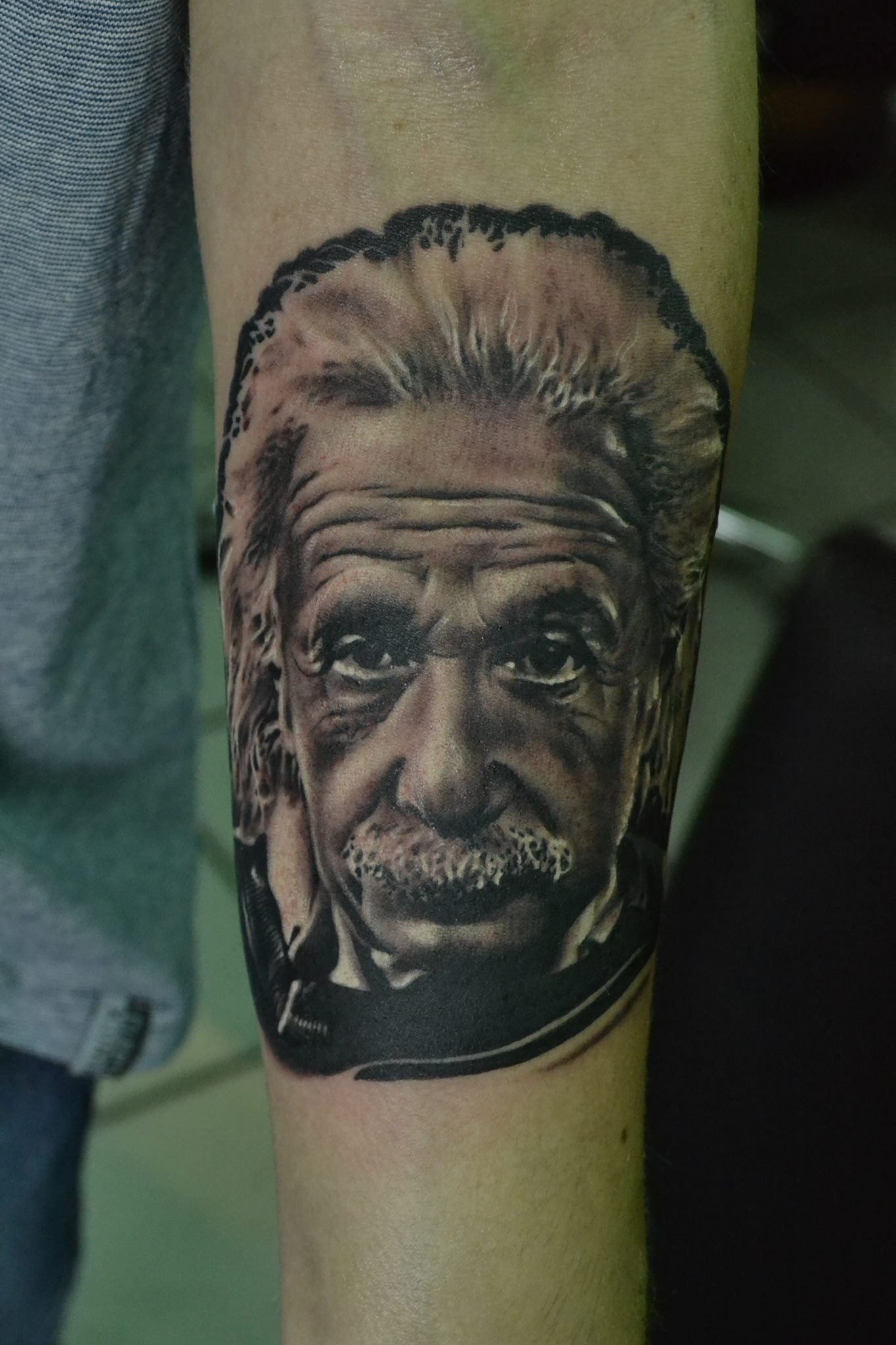 Albert Einstein Tattoo Portrait