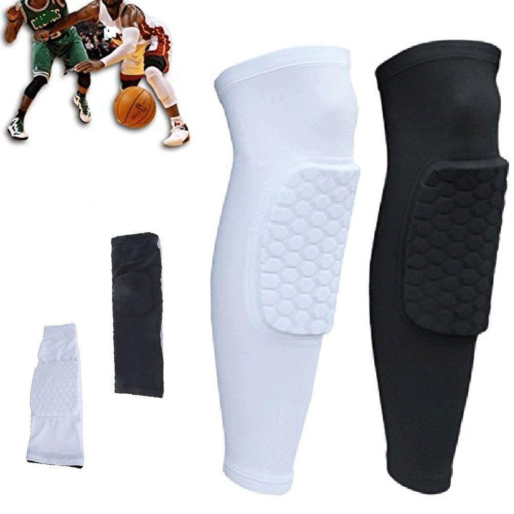 7c6df8d2e5 Crashproof Antislip Basketball Leg Knee Long Sleeve Honeycomb Pad Protector  Gear #Unbranded