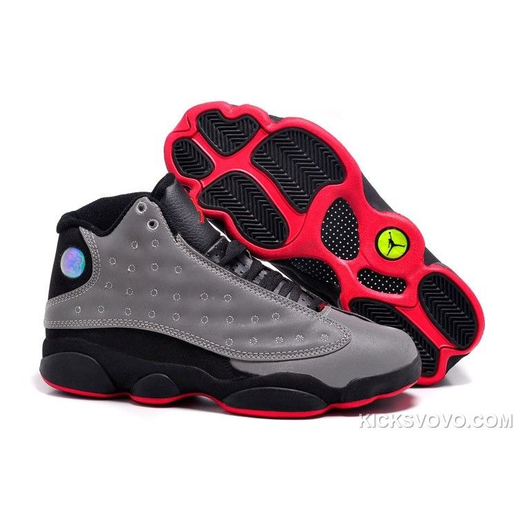 Air Jordan 13 Grey Black Red Mulit New Released at kicksvovo.com ... 79e0fb802c