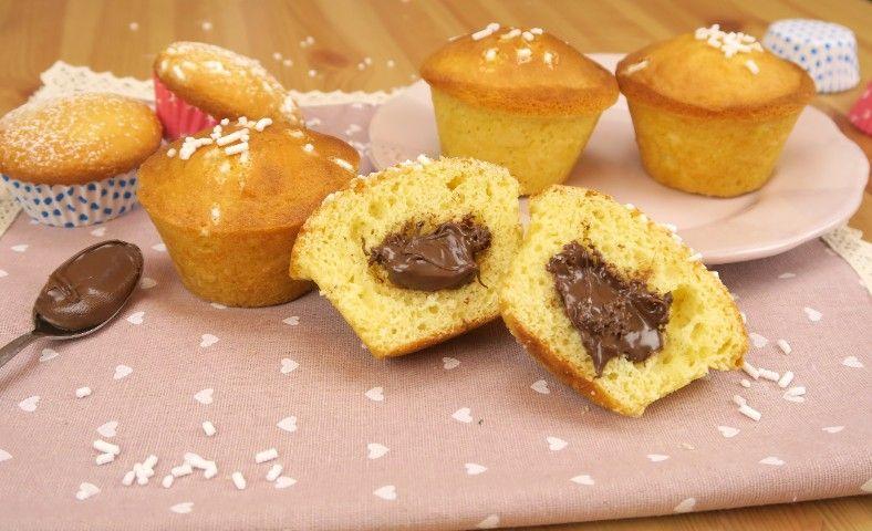Muffin con cuore cremoso: