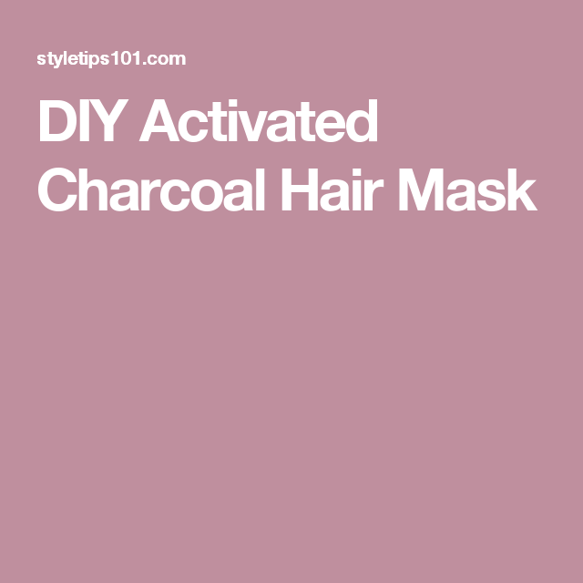 DIY Activated Charcoal Hair Mask