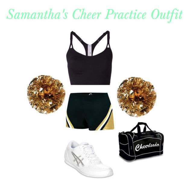 Samantha Williams's Cheer Practice Outfit by elizabethcooke on Polyvore featuring polyvore fashion style adidas Chassè Asics