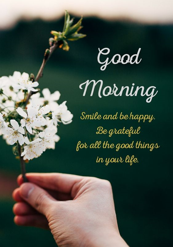 Good Morning Start Your Day With A Smile And Positive Thoughts Quoteoftheday Goodmo Happy Morning Quotes Good Morning Greetings Good Morning Messages