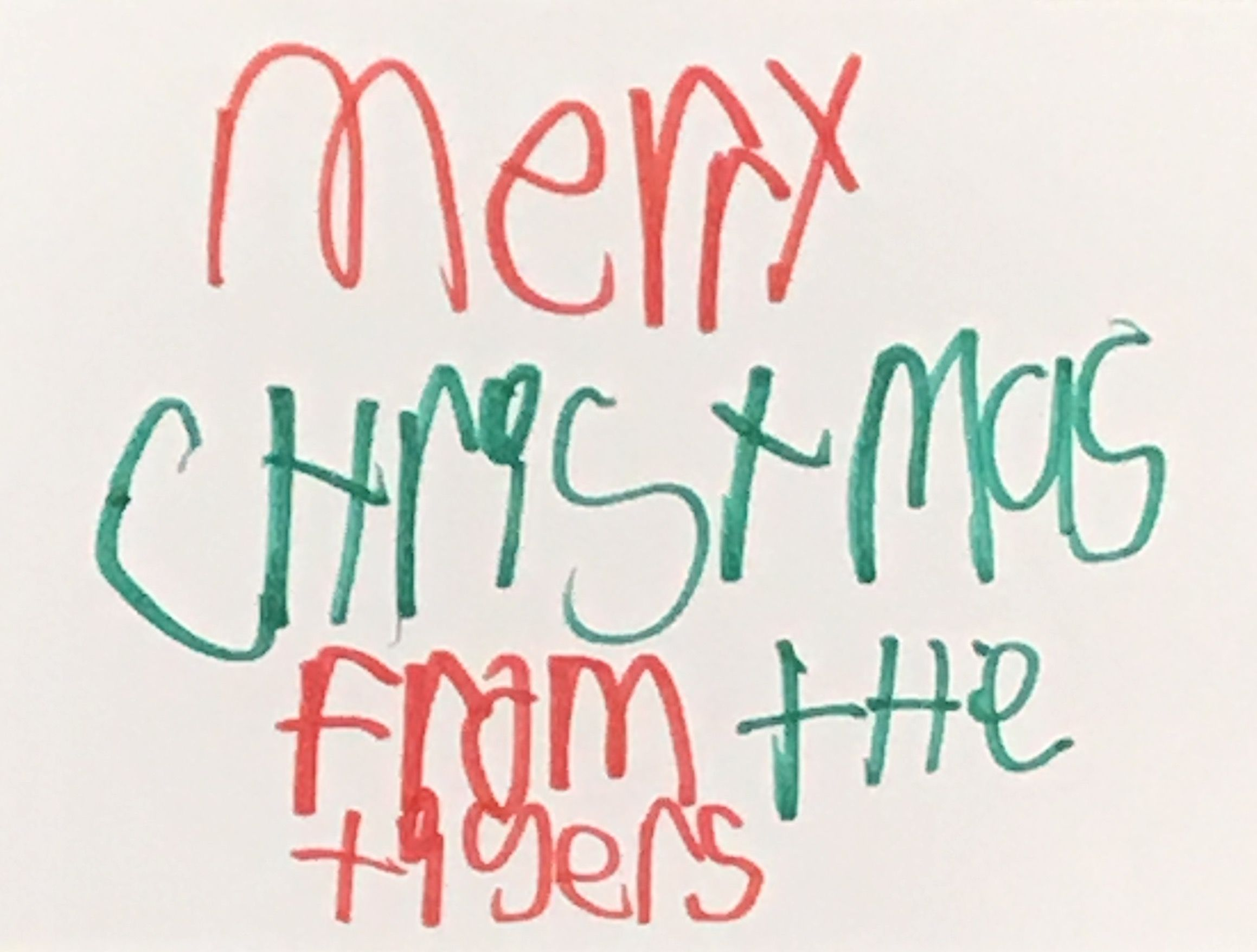 Students At Corsicana Middle School Create Holiday Greeting Cards