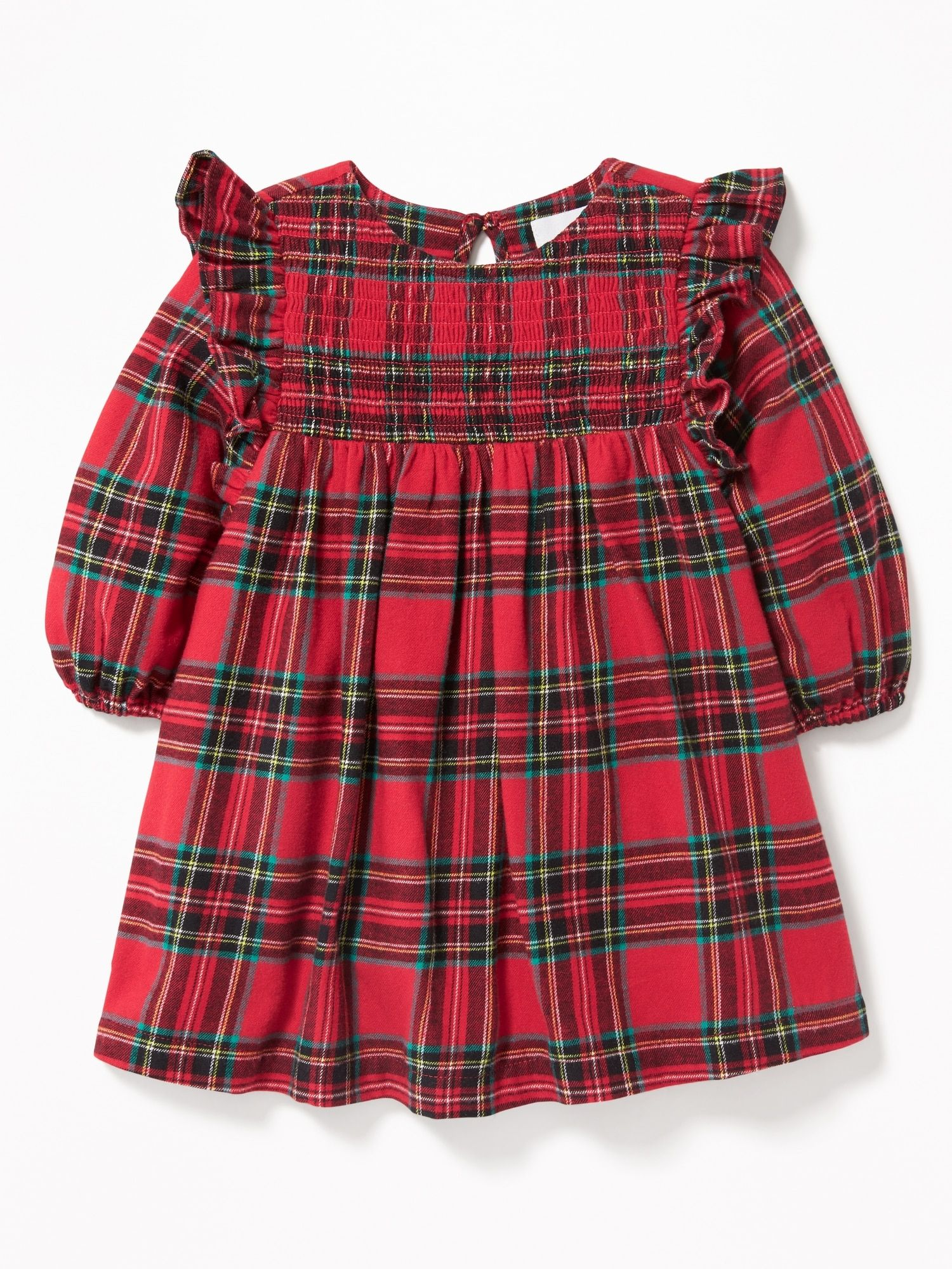 Plaid Ruffle Trim Dress For Baby Old Navy Toddler Christmas Dress Ruffle Trim Dress Newborn Dresses