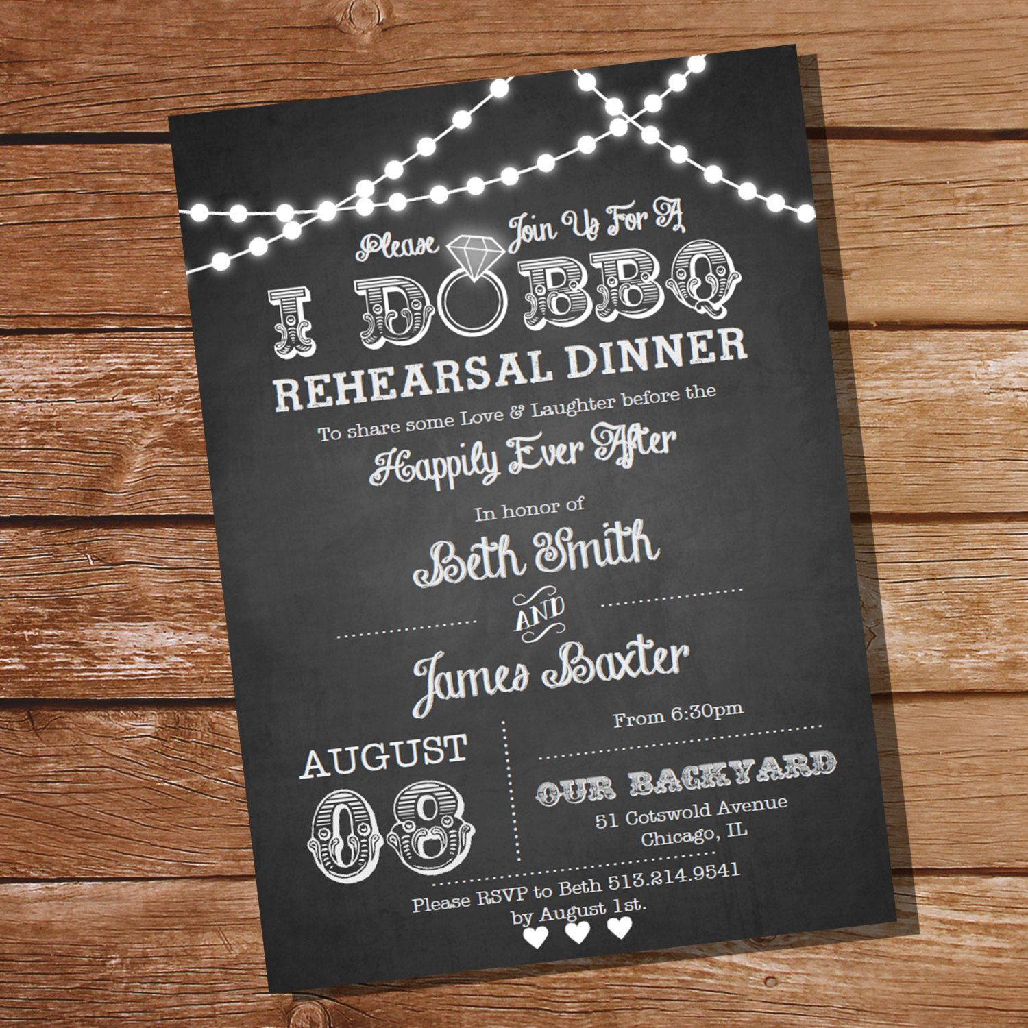 I Do BBQ Rehearsal Dinner Invitation Instant By SunshineParties