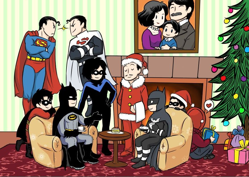 Nice moments in the batfamily XD Artist: koratCF
