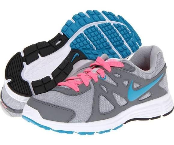 Nike Revolution 2 Women s Running Shoes Wolf Grey Cool Grey Digital  Pink Neo Turquoise   11.5 B - Medium 2c8ab13ea3