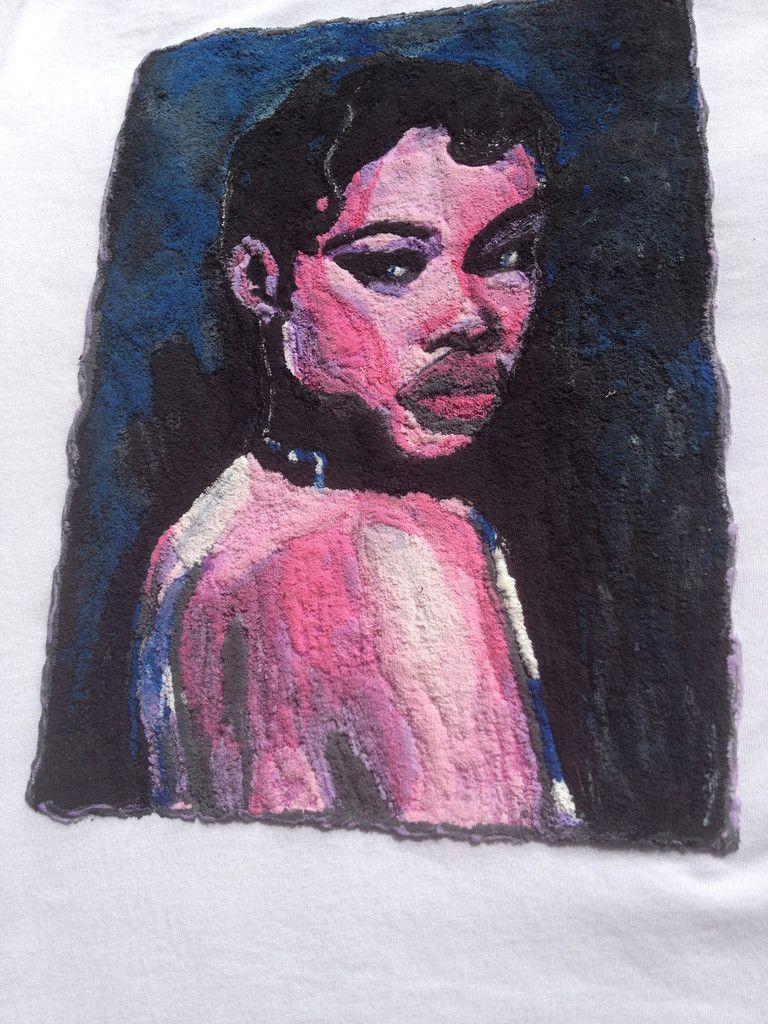 Black Women Portrait T-shirt Afro Artistic  Painted 3d T-shirt