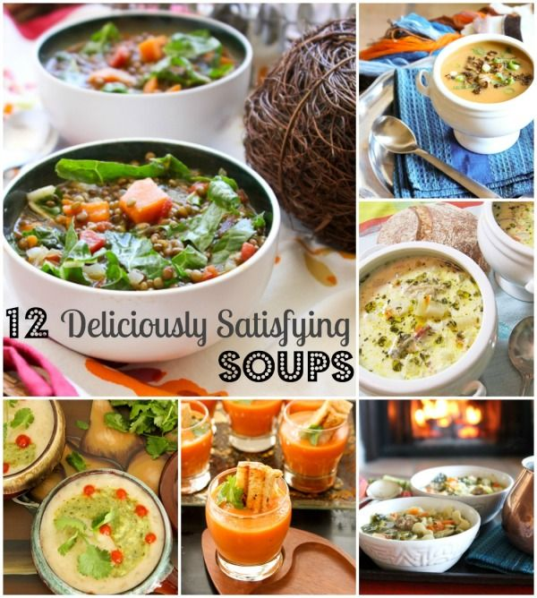 12 Deliciously Satisfying Soups {Vegan, GF, Low Sodium} - warm, comforting soups that are healthy, too!