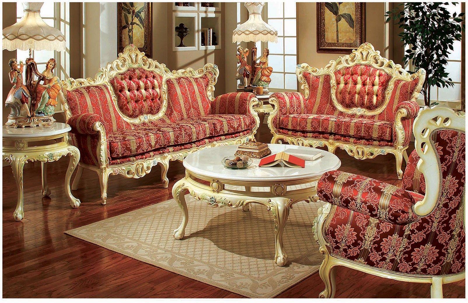609 Aj Solid Velvet Polrey French Provincial Living Room Style