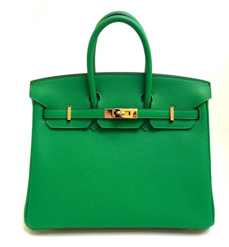 15627159b7d Sacs à main Hermès Hermes Birkin 25cm Bamboo Togo Leather Gold Hardware