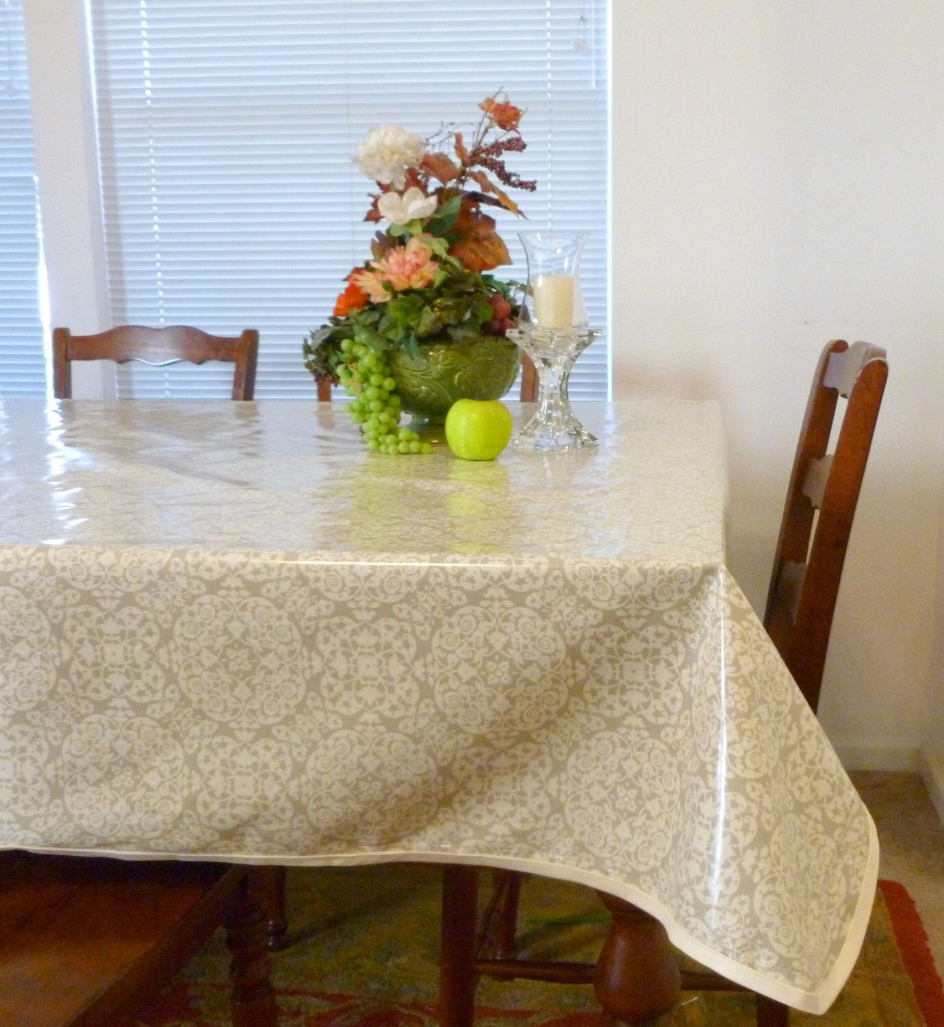 Awesome Laminated Tablecloth With Bias   Choose Your Size And Your Print   Laminated  Cotton BPA U0026