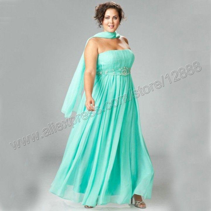 vestido fiesta largo para gorditas para las mujeres gordas