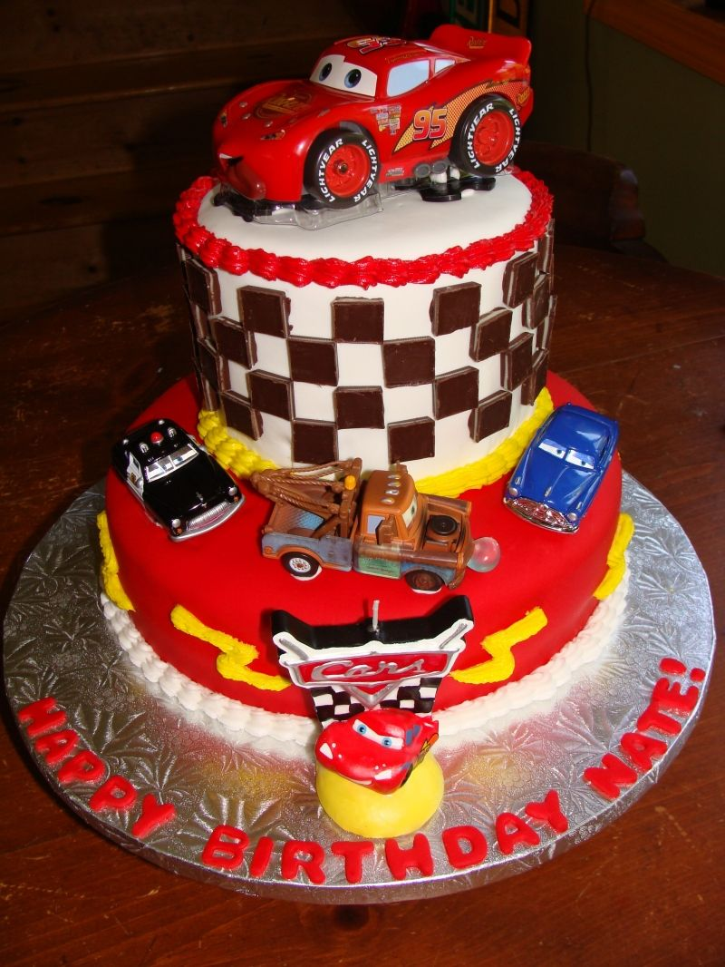 cars cake Cars birthday cake, Birthday cake pictures