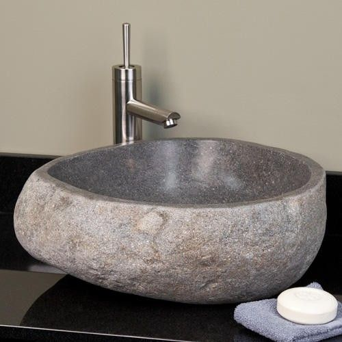 stone vessel sinks bathroom small light gray river vessel sink denny s 20705
