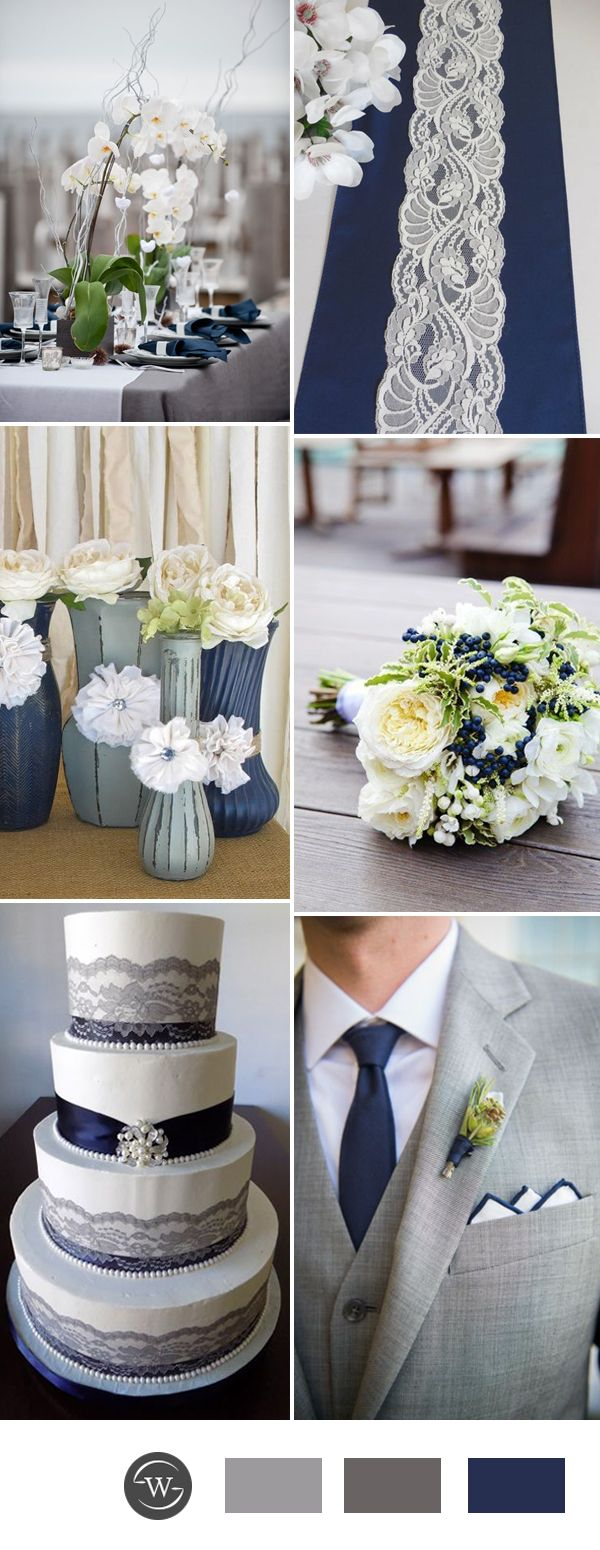 Wedding decorations wedding reception ideas november 2018 Stunning Navy Blue Wedding Color Combo Ideas for  Trends