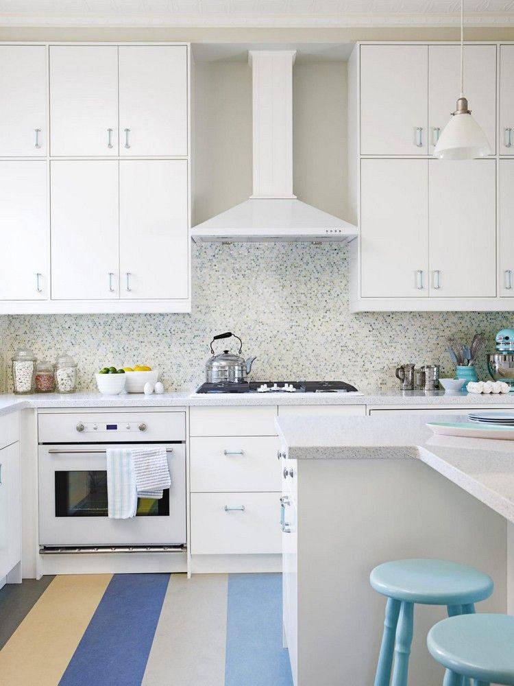 zweierreihen küchenoberschränke weiß helle küche #küche #kitchen ...
