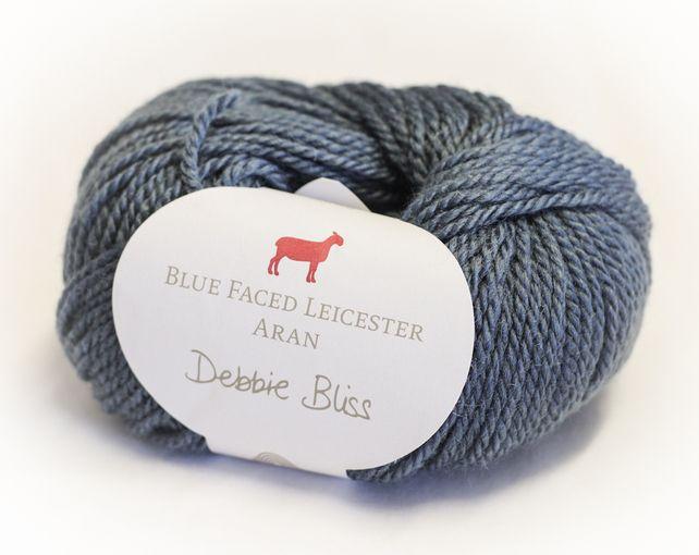 Debbie Bliss British Bluefaced Leicester Aran Knitting Yarn 50g - Denim £5.35