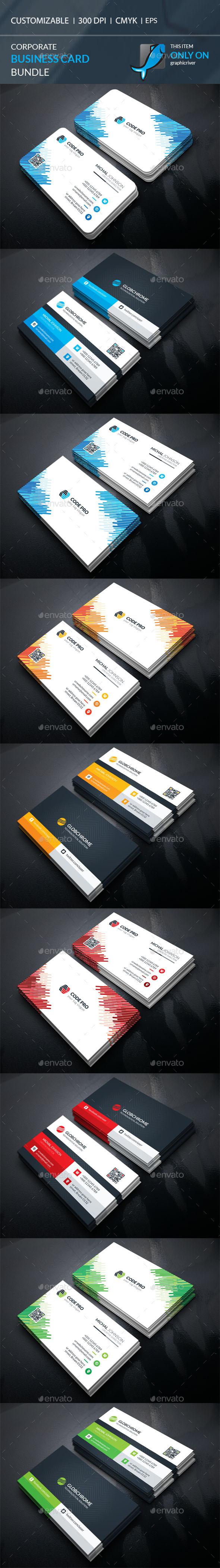 corporate business card templates bundle vector eps ai