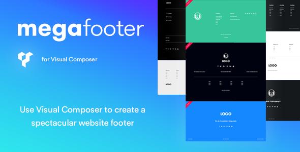 Mega Footer for Visual Composer | Website footer, WordPress ...