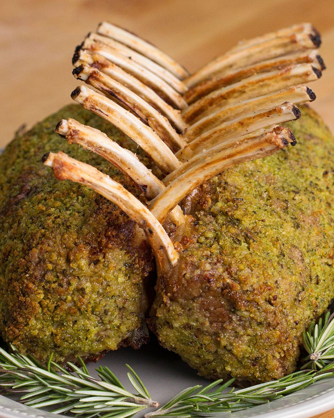 Garlic Herb Crusted Roast Rack Of Lamb Recipe Lamb Recipes