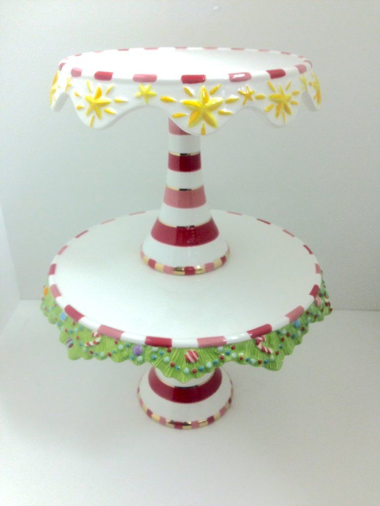 Glitterville Christmas Cake Plate 2 Tier Cake Plates Christmas Cake Cake And Cupcake Stand