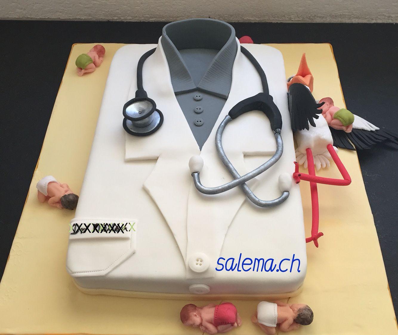 Arzt torte mit dekorationen aus zuckerfondant alle essbar for Torten dekorationen