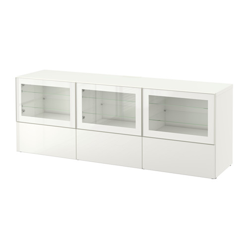 BESTÅ TV-benk m dører og skuffer IKEA Skuffene og dørene lukkes stille og mykt, takket være den integrerte myktlukkende funksjonen.